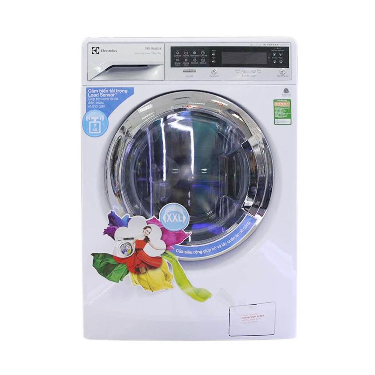 Máy giặt sấy Electrolux EWW14012 10kg Inverter Trắng