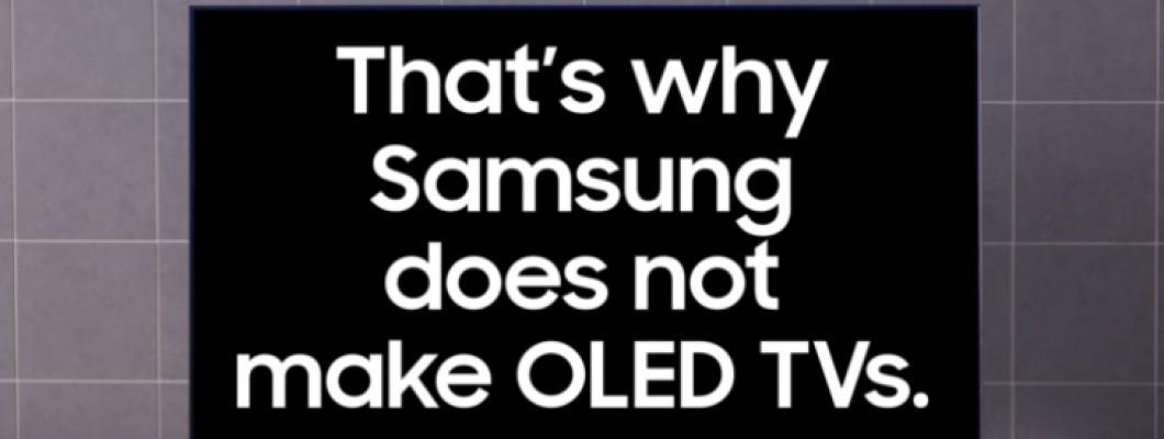 Samsung cà khịa dòng tivi OLED của LG trong clip quảng cáo mới