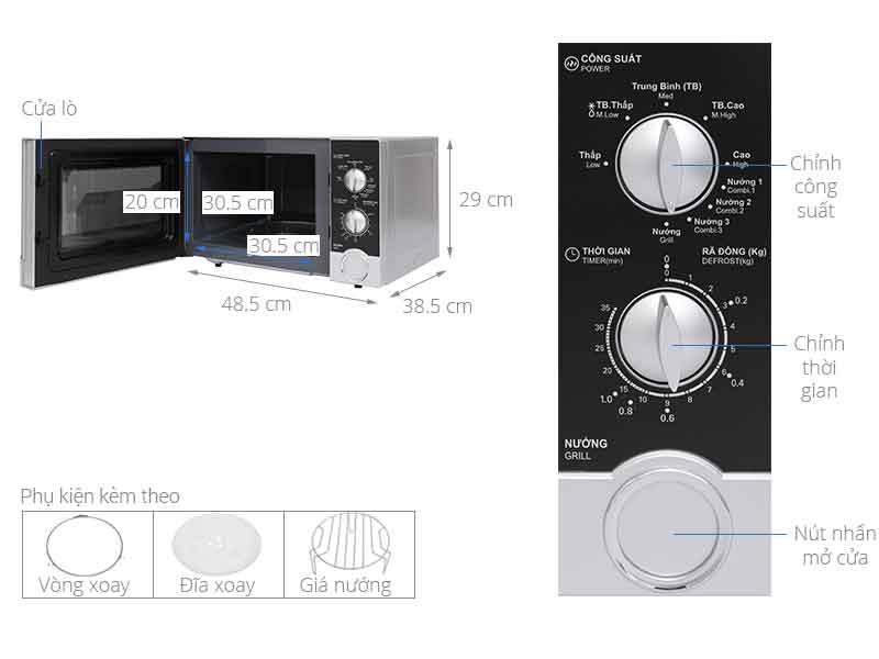 Lò vi sóng Sharp R-G302VN-S 23 lít