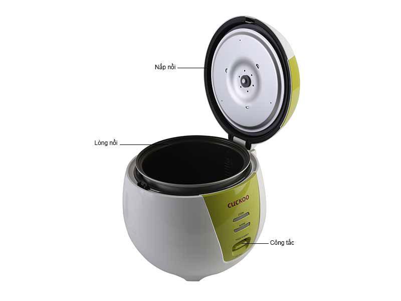 Nồi cơm điện Cuckoo CR0661Gthiết kế tinh tế