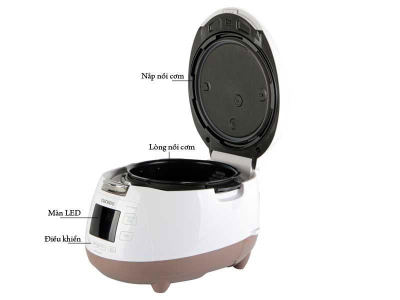 Nồi cơm áp suất điện tử Cuckoo CRP-M1000S thiết kế hiệnđại