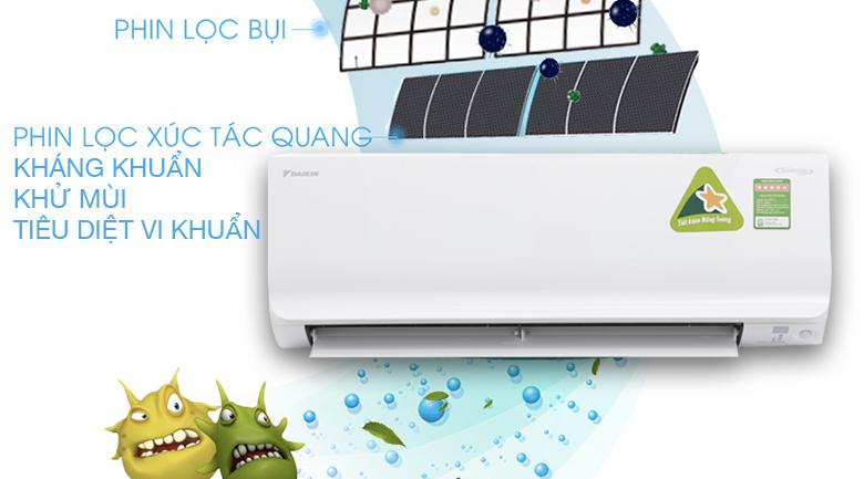 Điều Hòa Daikin ATKC25TVMV 9000BTU 1 chiều Inverter