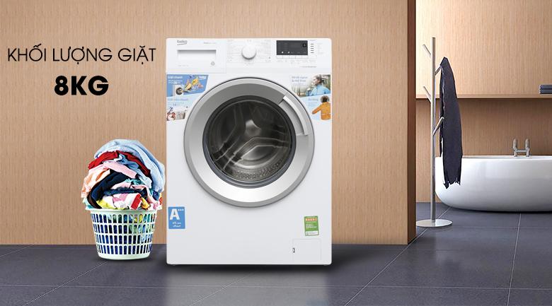 Máy giặt Beko WTV-8512XS0 kiểu dáng sang trọng, hiện đại