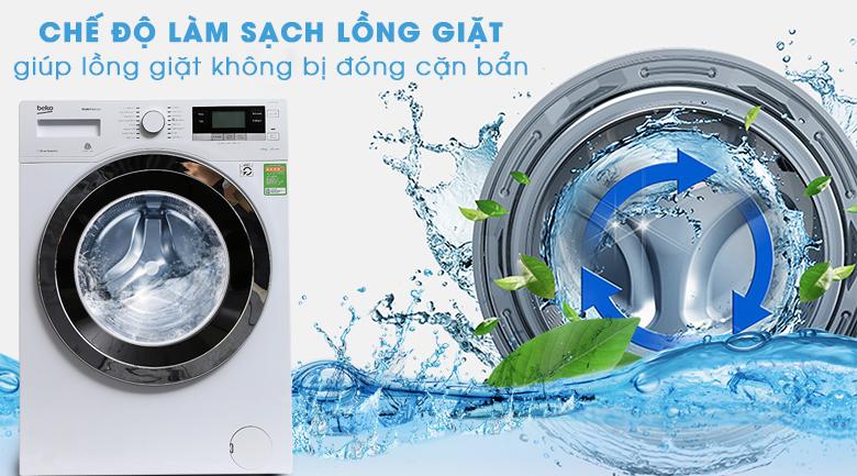 Chế độ làm sạch lồng giặt giúp lồng giặt không bị đóng cặn bẩn