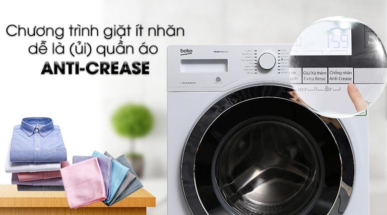 Chương trình giặt Anti-Crease giúp giặt quần áo ít nhăn, dễ ủi