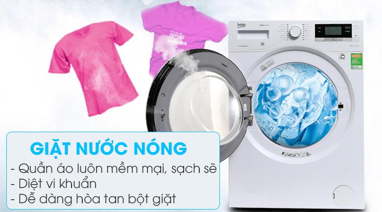 Giặt nước nóng diệt vi khuẩn, hòa tan hoàn toàn bột giặt