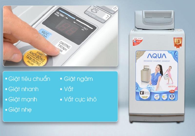 máy giặt aqua aqw-s70kt đa dạng chương trình giặt