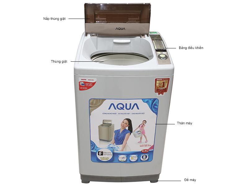 máy giặt lồng đứng aqua aqw-s80kt