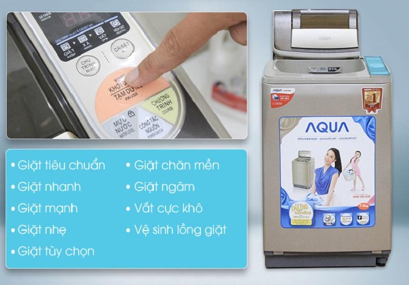 máy giặt aqua aqw-u800z1t nhieu chương trình giặt