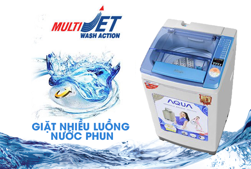 máy giặt aqua aqw-u800z1t multi jet