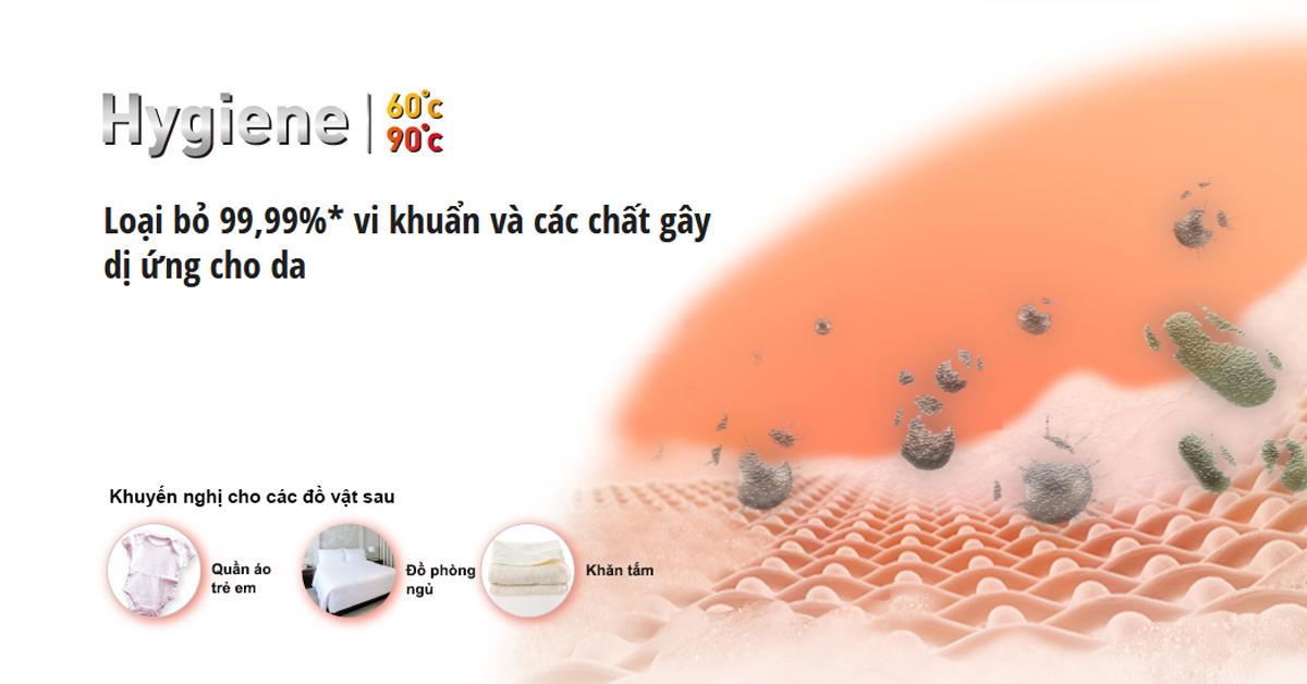 máy giặt panasonic na-128vg6wv2 giặt nước nóng