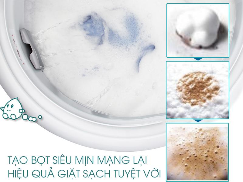 Công nghệ giặt Active Foam giặt sạch hiệu quả