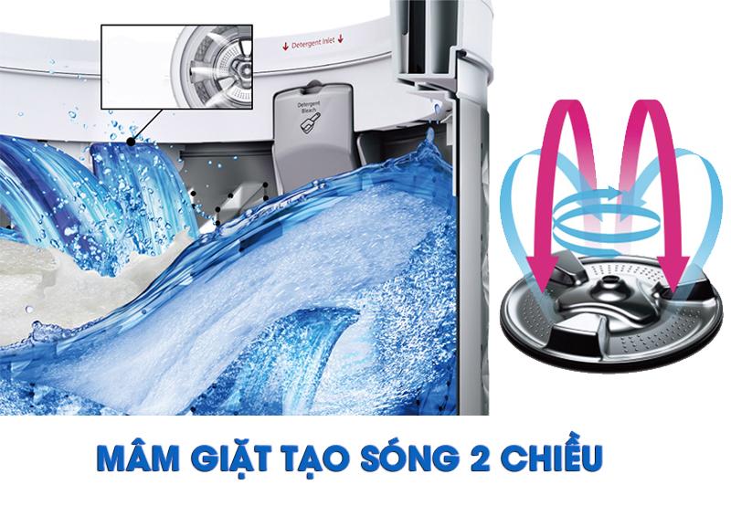 Mâm giặt Active wave cho hiệu ứng giặt trà mạnh mẽ