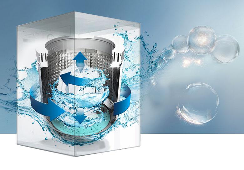 máy giặt samsung wa12j5750sp-sv inverter