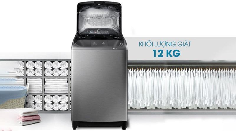 máy giặt lồng đứng samsung wa12j5750sp-sv