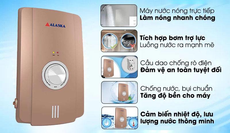 Máy tắm nước nóng Alaska H-45GP thiết kế đẹp mắt