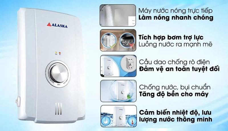 Máy tắm nước nóng Alaska H-45WP thiết kế đẹp mắt
