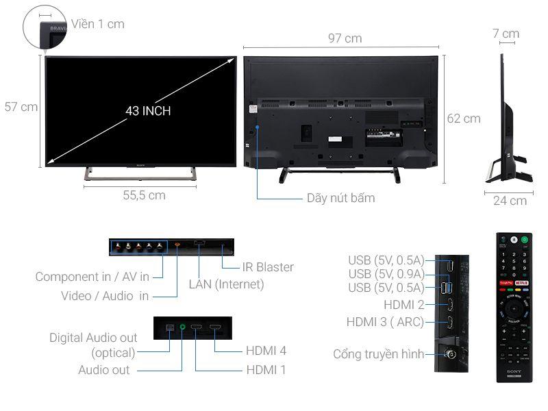 Android Tivi 43 inch 4K Sony KD-43X7500E