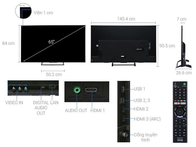 Internet Tivi 65 inch Sony KD-65X7000E