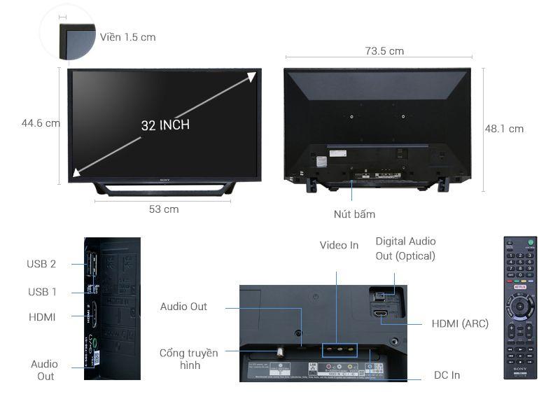 Internet Tivi 32 Inch Sony KDL-32W600D