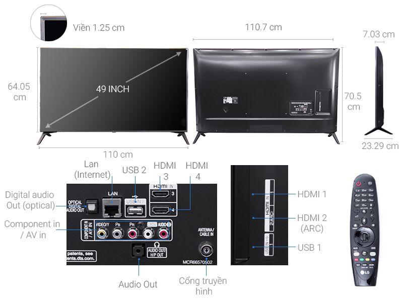 Smart Tivi LG 49UJ652T 4K 49 inch