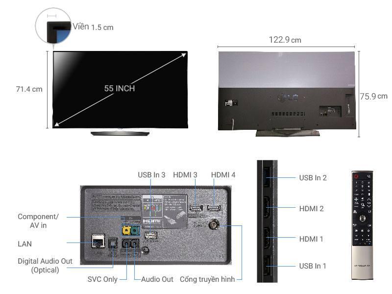 Smart Tivi LG 55B6T OLED 4K 55 inch