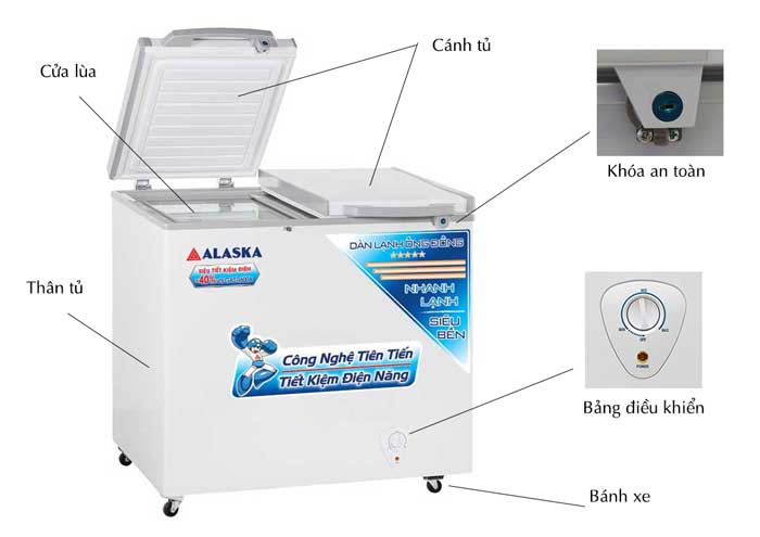 Tủ đông Alaska FCA-4600C thiết kế bắt mắt