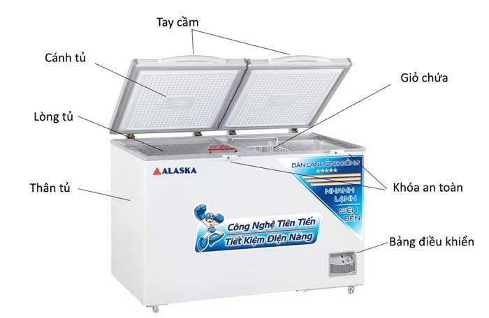 Tủ đông alaska HB-550C phân phối chính hãng