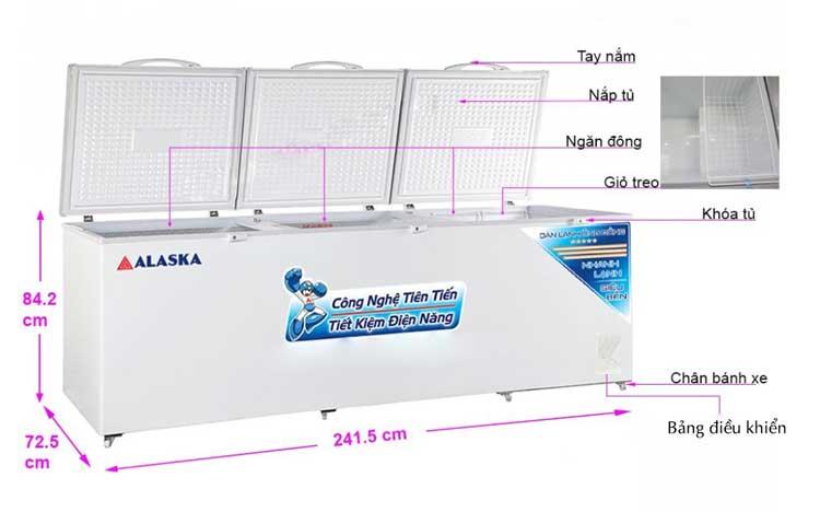 Tủ đông Alaska HB-1100C tiện lợi