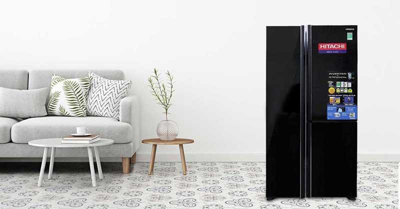 Tủ lạnh SBS Hitachi R-FM800PGV2GBK 600 lít Inverter thiết kế hiện đại
