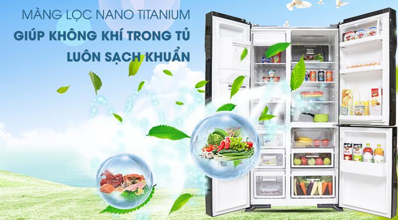 Khử mùi với Nano Titanium và đệm cửa chống mốc