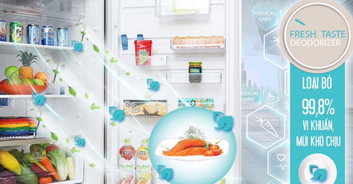 Công nghệ Fresh Taste kháng khuẩn, khử mùi