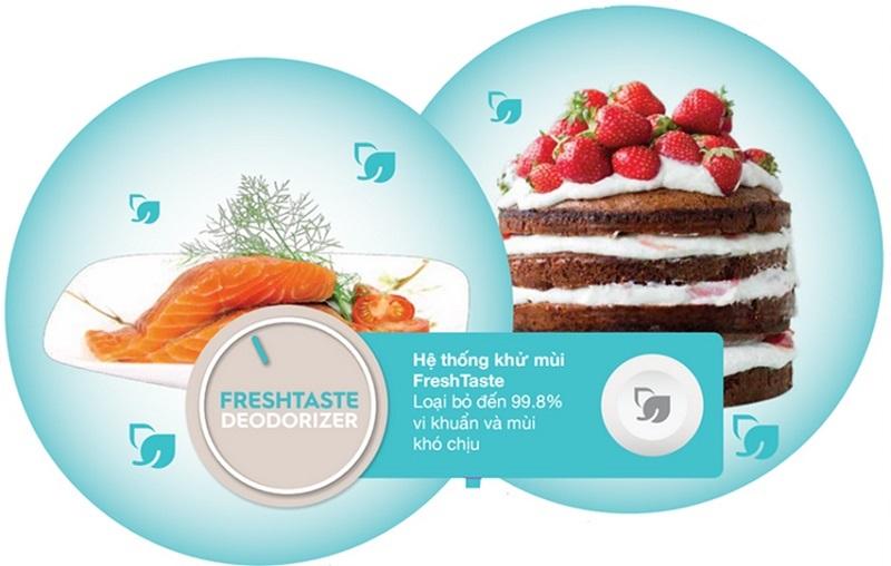 Hệ thống khử mùi hiệu quả, đảm bảo vệ sinh an toàn thực phẩm