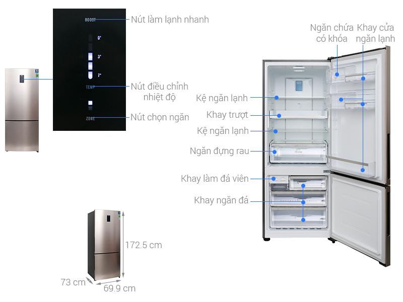Tủ lạnh Electrolux EBE4502GA Inverter 450 lít