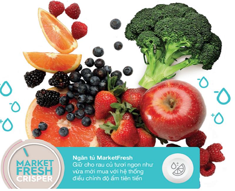 Ngăn đựng rau quả có điều chỉnh độ ẩm