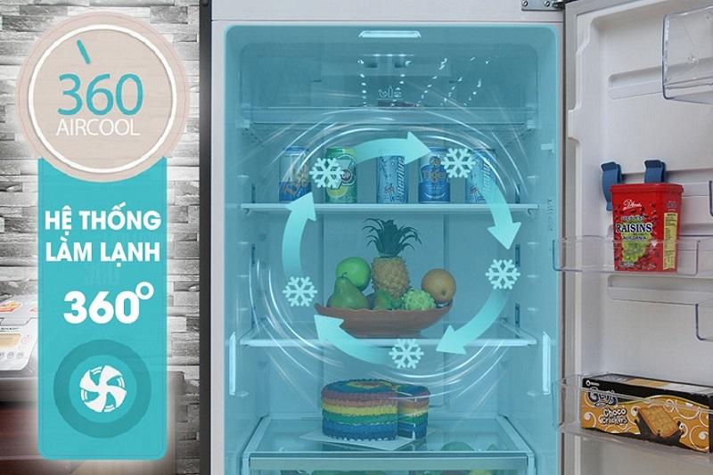 Thực phẩm được bảo quản lạnh đồng đều, hiệu quả