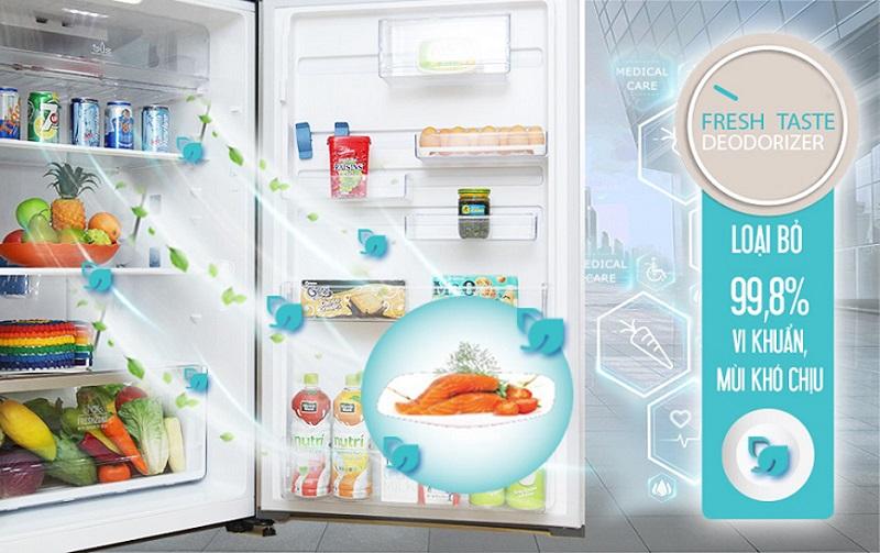 Tiêu diệt 99.8% mùi hôi và vi khuẩn bên trong tủ lạnh